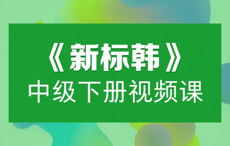 新版标准韩国语中级下册